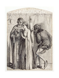 Retro Me Sathana, 1848 Giclee Print by Dante Charles Gabriel Rossetti