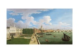 A Panoramic View of the Thames with St. Paul's Giclee Print by William James