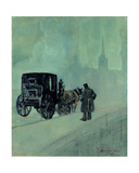A Foggy Night Giclee Print by George Luks