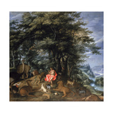 Orpheus Charming the Animals, 1610 Giclee Print by Denys van Alsloot