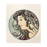 Head of a Woman Giclee Print by Alphonse Mucha