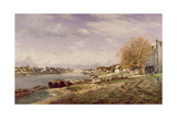 View of the Port of Bercy, Paris, 1880 Giclee Print by Jean Baptiste-antoine Guillemet