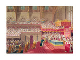 Procession of the Dean and Prebendaries of Westminster Bearing the Regalia, from an Album… Giclee Print by Charles Wild