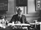 Gabriel Faure (1845-1924) at His Desk Photographic Print by  Dornac