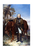 Lieutenant General Sir Charles Napier and His Arab Charger Red Rover, 1853 Giclee Print by Edwin Williams