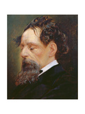 Portrait of Charles Dickens (1812-70) 1871 Giclee Print by Frederick Sargent