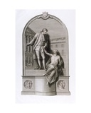 Monument to Sir Thomas Guy (1645-1724) at Guy's Hospital, Southwark, Engraved by Francesco… Giclee Print by John Bacon