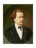Portrait of Nikolay Rubinstein (1835-81) C.1870 Giclee Print by Sergei Ivanovich Gribkov