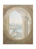 View of the Pont Neuf from a Bull's Eye Window of the Louvre, 1810 Giclee Print by Victor Jean Nicolle