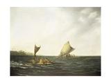 Tonga Canoes Giclee Print by John Webber