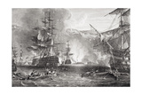 The Bombardment of Algiers, 27 August 1816, from 'Illustrations of English and Scottish History'… Giclee Print by George the Elder Chambers