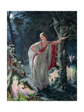 A Midsummer Night's Dream: Hermia Surrounded by Puck and the Fairies, 1861 Giclee Print by John Simmons