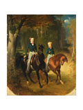 Louis-Philippe D'Orleans (1838-94) Comte De Paris and His Brother, Robert D'Orleans (1840-1910)… Giclee Print by Alfred Dedreux