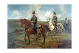 The Prince of Wales (1841-1910) with Lieutenant Colonel Valentine Baker Reviewing the 10th Hussars Giclee Print by Sir Francis Grant