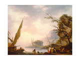 A Southern Coastal Scene, 1753 Giclee Print by Charles Francois Lacroix de Marseille