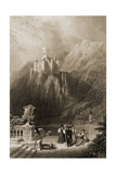 Thurnburg Castle, Engraved by J.T. Willmore, Illustration from 'The Pilgrims of the Rhine'… Giclee Print by David Roberts