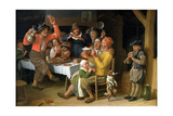 An Interior with Peasants Singing and Dancing, 1681 Giclee Print by Lambert Doomer