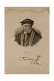 Portrait of John Calvin (1509-64) Giclee Print by Francois Seraphin Delpech