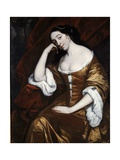 Portrait of a Lady, Wearing a Gold Dress with Red Robes Giclee Print by Henry Anderton