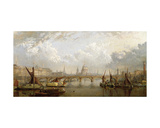 The Thames, London Giclee Print by John Macvicar Anderson