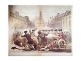 Death of Crispus Attucks at the Boston Massacre, 5th March, 1770, 1856 Giclee Print by James Wells Champney