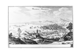 View of Marseilles, from 'topographia Galliae' by Martin Zeiller, Published 1655-61 Giclee Print by German School