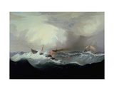 S.S Britannia, 1842 Giclee Print by Fitz Henry Lane