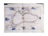 The Black Sea, from the 'Portolan Atlas of the World', C.1540 Giclee Print by Battista Agnese