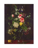 Vase of Flowers, 1775 Giclee Print by A. Viedebant