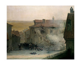 A War-Torn Village Giclee Print by Jean-Baptiste Edouard Detaille