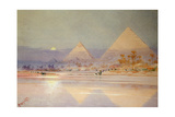 The Pyramids at Dusk Giclee Print by Augustus Osborne Lamplough