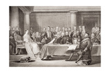 Queen Victoria's First Council, Kensington Palace, 21 June 1837, from 'Illustrations of English… Giclee Print by Sir David Wilkie