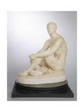 A Greek Boxer Waiting His Turn, C.1838 Giclee Print by Joseph Gott