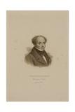 Portrait of Francois Rene (1768-1848) Vicomte De Chateaubriand Giclee Print by Francois Seraphin Delpech