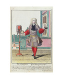 The Wigmaker, Published in Augsburg, C.1735 Giclee Print by Martin Engelbrecht
