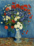 Still Life: Vase with Cornflowers and Poppies, 1887 Giclée-tryk af Vincent van Gogh