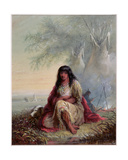 Sioux Indian Girl Giclee Print by Alfred Jacob Miller
