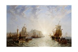 Shipping Off Scarborough, 1845 Giclee Print by John Wilson Carmichael