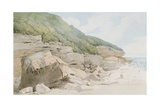 Beach Scene, Exmouth Giclee Print by Francis Towne