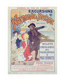 Poster Advertising the Chemin De Fer De L'Ouest Excursions to Normandy, Brittany, Jersey and Mont… Giclee Print by Georges Meunier