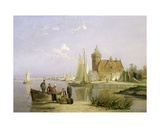 The House De Vraag, on the Amstel, Amsterdam Giclee Print by William R. Dommersen
