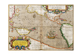 Map of the Pacific Ocean from 'Theatrum Orbis Terrarum' Originally Executed in 1570, 1606 Giclee Print by Abraham Ortelius