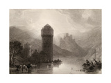 Tower of Niederlahnstein, Engraved by E. Goodall, Illustration from 'The Pilgrims of the Rhine'… Giclee Print by David Roberts
