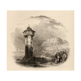 The Roman Tower in Thal, Ehrenbreitstein, Engraved by Wallis, Illustration from 'The Pilgrims of… Giclee Print by David Roberts