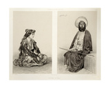 Costumes of Baku, Caspian Coast, Plate 35 from a Book on the Caucasus, Engraved by Jules Didier… Giclee Print by Grigori Grigorevich Gagarin