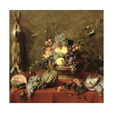 Still Life of Fruit in a Basket Giclee Print by Frans Snyders Or Snijders