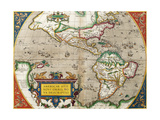 Map of America from 'Theatrum Orbis Terrarum' Originally Executed in 1570, 1606 Giclee Print by Abraham Ortelius