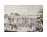 The Cafe Goddet, Boulevard Du Temple, at the Time of the Consulat, 1799-1804 Giclee Print by Jacques Francois Joseph Swebach