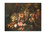 Still Life of Fruit Giclee Print by Giovanni-Battista Ruoppolo or Ruopolo