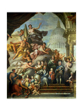 Rear Wall Painting of the Upper Hall Glorifying George I (1660-1727) and the House of Hanover,… Giclee Print by Sir James Thornhill